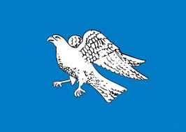 Icelandic Gyrfalcon Independence Flag