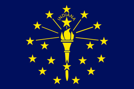 Indiana (IN) Flag