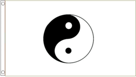 Taoism Flag (White)