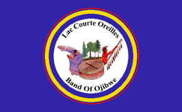 Lac Courte Oreilles Band of Lake Superior Chippewa Flag