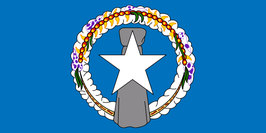 Northern Marianas Islands (MP) Flag / Bandera Notte Mariånas