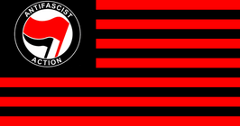 Antifa Red & Black Stripes Flag