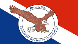Keweenaw Bay Indian Community Flag
