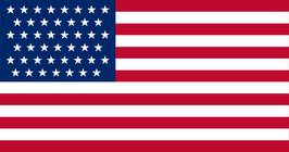Spanish-American War US Flag (45 Stars)