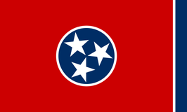 Tennessee (TN) Flag