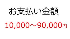 お支払いカート(10,000~90,000円)