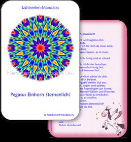 """Lichtseelen-Set """"Pegasus-Einhorn-Sternenlicht"""""""