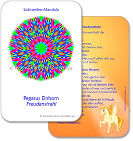 """Lichtseelen-Set """"Pegasus Einhorn Freudenstrahl"""""""