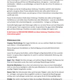 Checkliste / Anleitung Mängelmitteilung + Reparaturen im WEG-Objekt inkl. Muster Auftragsschreiben