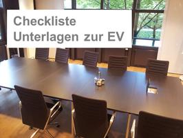 Checkliste Unterlagen zur Eigentümerversammlung