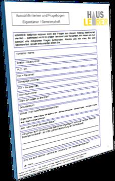 Fragebogen: Was möchte ich von einem nach einer Verwaltung suchenden Kunden wissen?