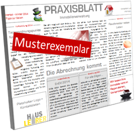 PLAKAT - Praxisblatt Immobilienverwaltung