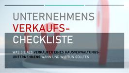 UnternehmensVERKAUFS-Checkliste - Was Sie als VERKÄUFER einer HV wann und wie tun sollten!