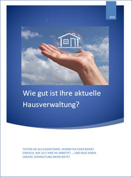 """Hausverwaltungs-Check als Element für die aktive Kundengewinnung """"fremder WEG"""""""
