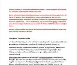 3 Muster-Schreiben WEG-Novelle für Eigentümer