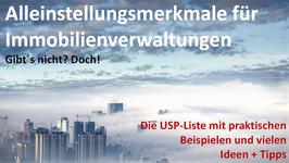 Alleinstellungsmerkmale für HV´en / Die USP-Liste
