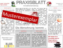 AUSHANG - Praxisblatt Immobilienverwaltung