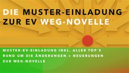 Muster-Einladung zur EV WEG-Novelle