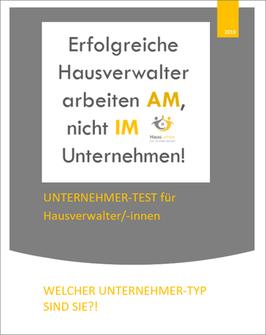UNTERNEHMER-TEST für Hausverwalter/-innen - KOSTENLOS