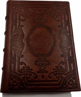 Quaderno pelle marrone chiaro