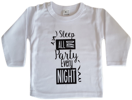Longsleeve - Party Every Night (Wit)