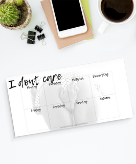 Wochenplaner - Dont care