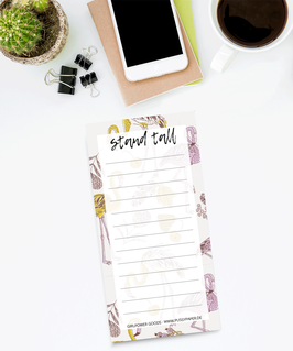 To Do Liste - Stand Tall Flamingo Block