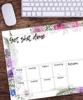 Schreibtischunterlage - Get it done