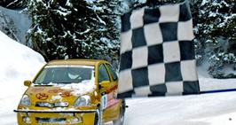 Wintertraining, Qualifikation und Rennen im gestellten Toyota Yaris in Flaine (F) (Vertragspartner Code: P4S), bzw. 990 CHF