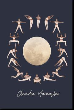Affiche Salutation à la lune