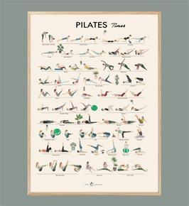 Affiche de PILATES illustrée