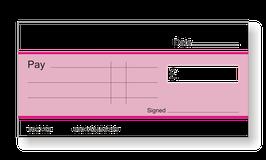 Jumbo Cheque (Pink)