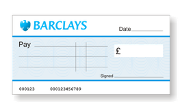 Barclays Jumbo Cheque with Free Sharpie Permanent Marker Pen