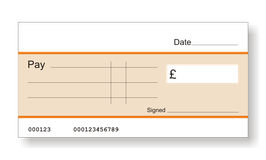 Jumbo Cheque (Orange)