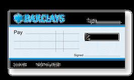 Barclays Jumbo Cheque