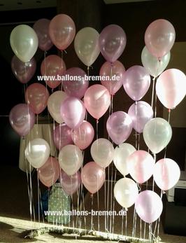Ballonwand - das Original von Pinterest (nur Material)