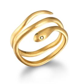SATYA Ring Smaragd - Schlange
