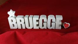 Beton, Steinguss Buchstaben 3D Deko Stern Namen BRUEGGE als Geschenk verpackt!