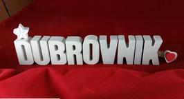 Beton, Steinguss Buchstaben 3D Deko Stern Namen DUBROVNIK als Geschenk verpackt!