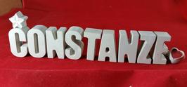 Beton, Steinguss Buchstaben 3D Deko Namen CONSTANZE als Geschenk verpackt!