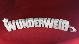 Beton, Steinguss Buchstaben 3D Deko Stern Namen WUNDERWEIB als Geschenk verpackt!
