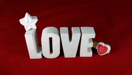 Beton, Steinguss Buchstaben 3D Deko Stern Namen LOVE als Geschenk verpackt!