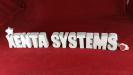 Beton, Steinguss Buchstaben 3D Deko Stern Schriftzug XENTA SYTEMS als Geschenk verpackt!