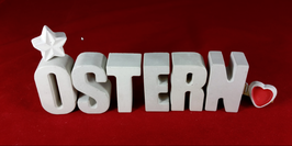 Beton, Steinguss Buchstaben 3D Deko Stern Namen OSTERN als Geschenk verpackt!