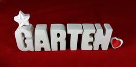 Beton, Steinguss Buchstaben 3D Deko Stern Namen GARTEN als Geschenk verpackt!