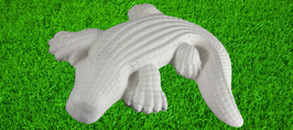 Krokodil aus weißem Beton