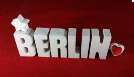 Beton, Steinguss Buchstaben 3D Deko Stern Namen BERLIN als Geschenk verpackt!