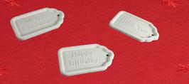 Geschenkanhänger 3 tlg. Set aus weißem Beton