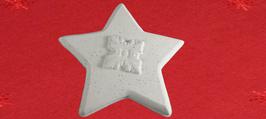 Stern mit Relief aus weißem Beton