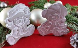 Beton, Steinguss Anhänger Santa-Bären